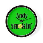 Andy is smokin' Wall Clock