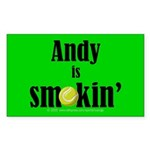 Andy is smokin' Rectangle Sticker