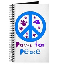 Paws for Peace Blue Journal
