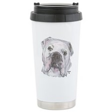 Bulldog Ceramic Travel Mug