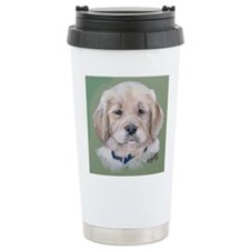 Golden Retriever Puppy Ceramic Travel Mug