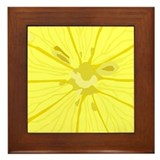 Lemon Slice Framed Tile