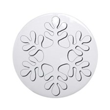 White on White Embossed Snowflake Ornament