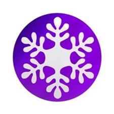 Purple Gradient Snowflake Ornament
