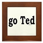 go Ted Framed Tile