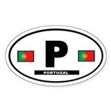 Portugal International Style Oval Décalcomanies