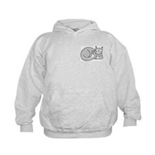 Gray/White ASL Kitty Hoodie