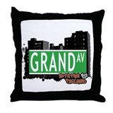 GRAND AVENUE, STATEN ISLAND, NYC Throw Pillow