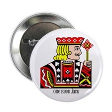 "One Eyed Jack 2.25"" Button (10 pack)"