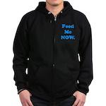 Feed Me Now Zip Hoodie (dark)