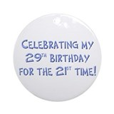 Funny 50th B-day Ornament (Round)