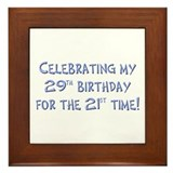 Funny 50th B-day Framed Tile