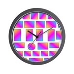 Trippy Square Wall Clock
