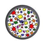 Rainbow Firecracker Wall Clock