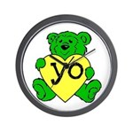 Yo Teddy Wall Clock