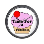 Time For A Cupcake Wall Clock