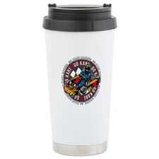 Go Kart Racing Ceramic Travel Mug
