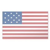 Star-Spangled Banner Flag Rectangle Sticker 50 pk