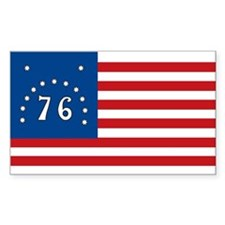 Bennington Battle Flag Rectangle Sticker 10 pk)
