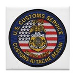 U S Customs Berlin Tile Coaster