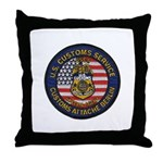 U S Customs Berlin Throw Pillow