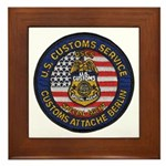 U S Customs Berlin Framed Tile