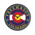 Colorado Masons Wall Clock