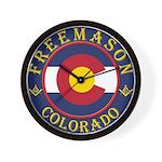 Colorado Masons Wall Clock