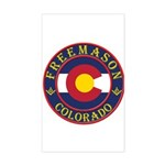 Colorado Masons Rectangle Sticker