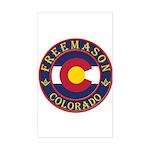 Colorado Masons Rectangle Sticker
