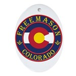 Colorado Masons Oval Ornament