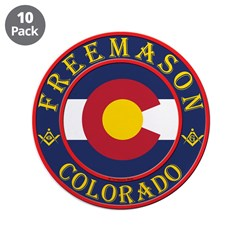 "Colorado Masons 3.5"" Button (10 pack)"