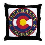 Colorado Masons Throw Pillow