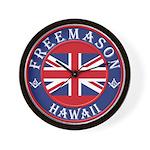 Hawaii Masons Wall Clock