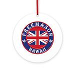 Hawaii Masons Ornament (Round)