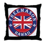 Hawaii Masons Throw Pillow