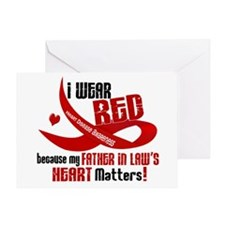 Red For Father-In-Law Heart Disease Greeting Card