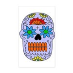 Sugar Skull Rectangle Sticker