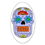 Sugar Skull Oval Sticker