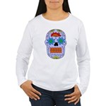 Sugar Skull Women's Long Sleeve T-Shirt