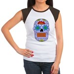Sugar Skull Women's Cap Sleeve T-Shirt