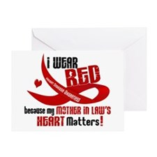 Red For Mother-In-Law Heart Disease Greeting Card