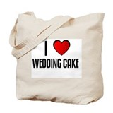 I LOVE WEDDING CAKE Tote Bag