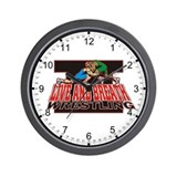 Live and Breath Wrestling Wall Clock