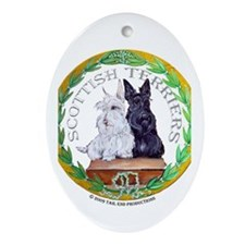 Scottish Terrier Crest Oval Ornament