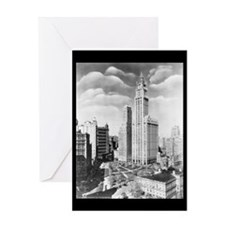 Vintage 1939 New York Photograph Greeting Card