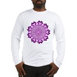 Purple Mandala Long Sleeve T-Shirt