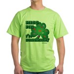 Kiss Me... I'm Drunkish! Green T-Shirt