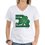 Kiss Me... I'm Drunkish! Women's V-Neck T-Shirt