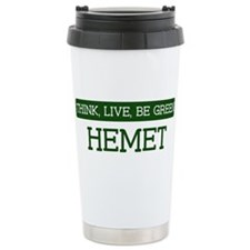 Green HEMET Stainless Steel Travel Mug